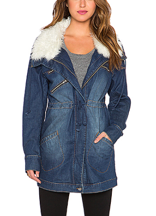 REX STRETCH DENIM ANORAK SOMEDAYS LOVIN