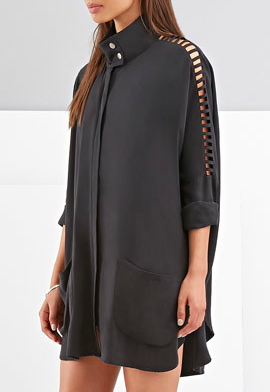 Foxiedox cutout long jacket