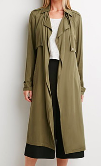 Forever 21 long trench coat