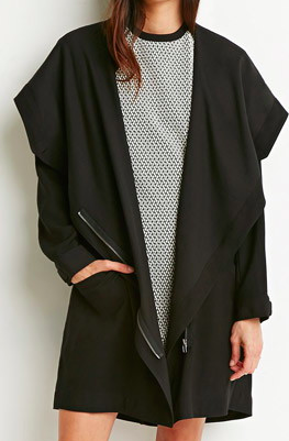 Forever 21 draped long jacket