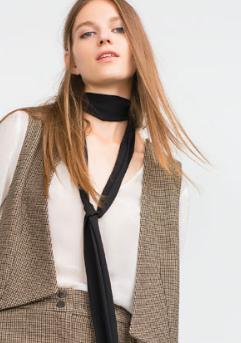 Zara skinny scarf