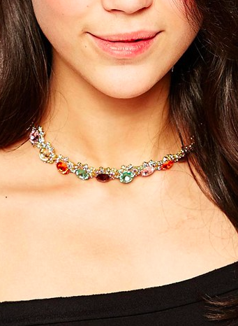 Love Rocks gemstone choker