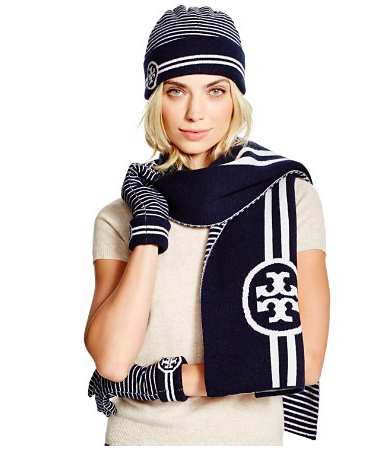 Tory Burch scarf and gloves