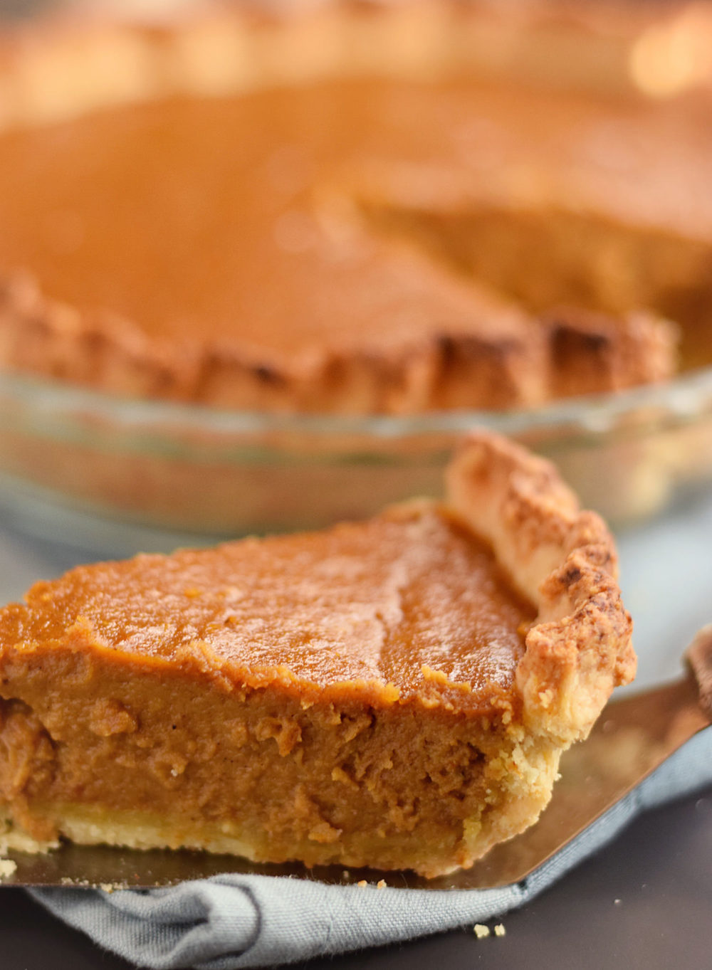 Epic Pumpkin Pie: amazing, flaky pie crust filled with an easy, flavorful pumpkin filling yielding one epic pie.  A Thanksgiving must! | trufflesandtrends.com