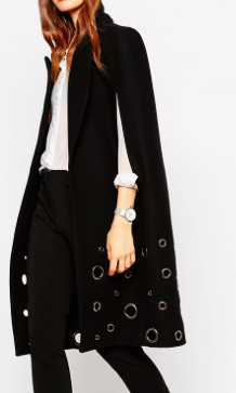Asos cape with eyelet detail