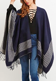 Forever 21 houndstooth shawl