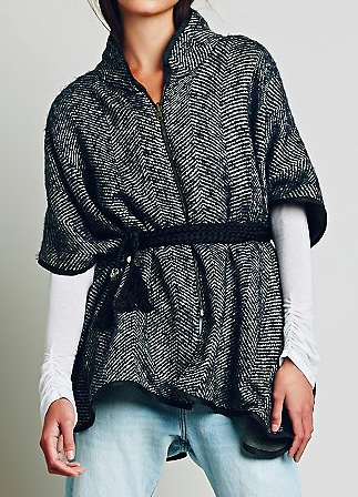 Free People zipper cape