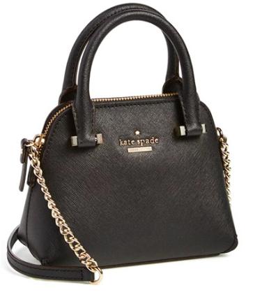 Kate Spade black mini satchel