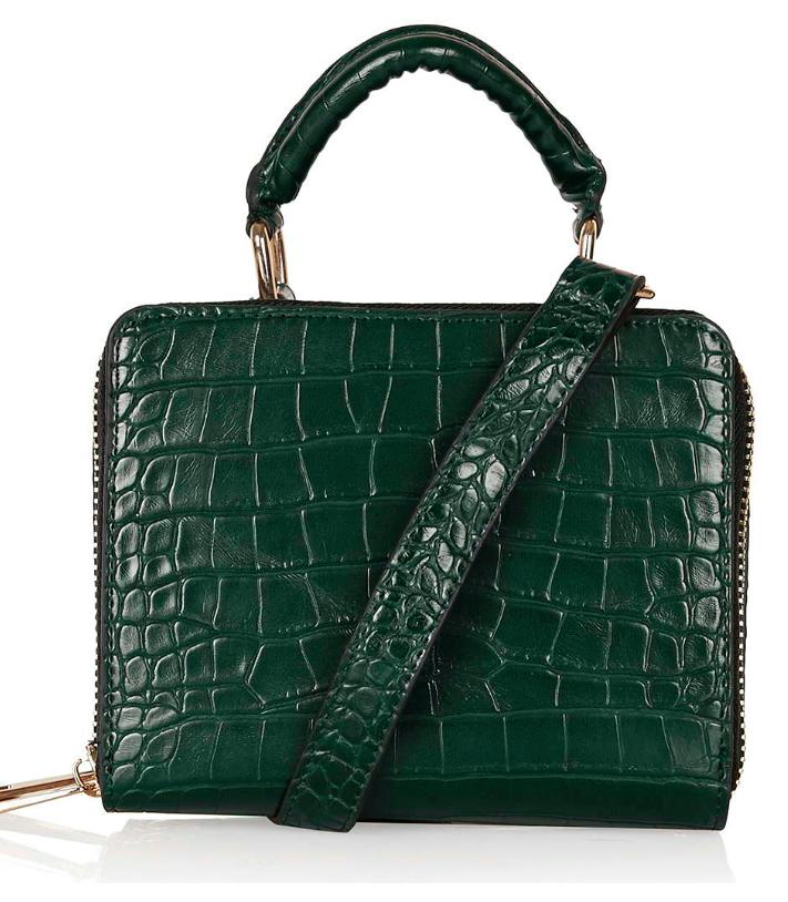 Topshop croc mini satchel