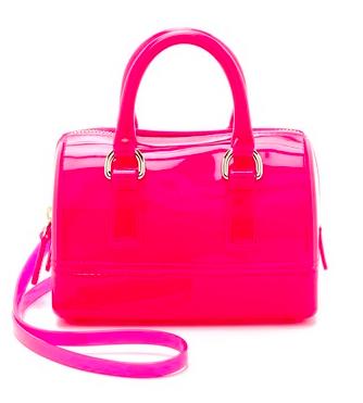 Furla hot pink mini satchel