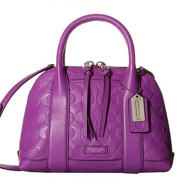 Coach embossed mini satchel