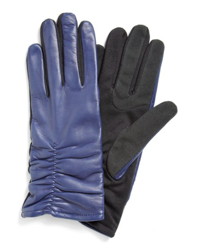 Fownes Brothers Ruched Leather Tech Gloves