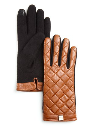 Ralph Lauren quilted leather gloves