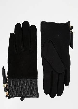 River Island suede gloves
