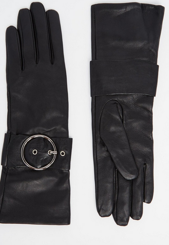 Asos long leather gloves