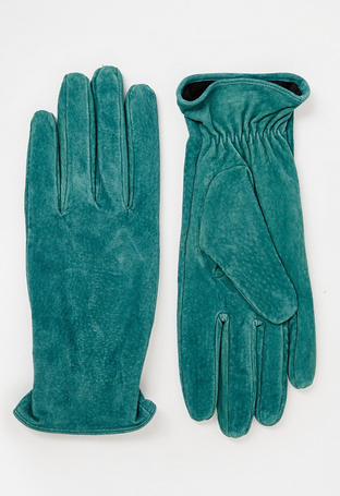 Pieces suede gloves
