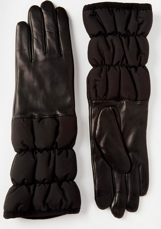 Echo Touch Leather Glove With Padded Quilted Cuff