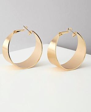 Forever 21 wide hoop earrings