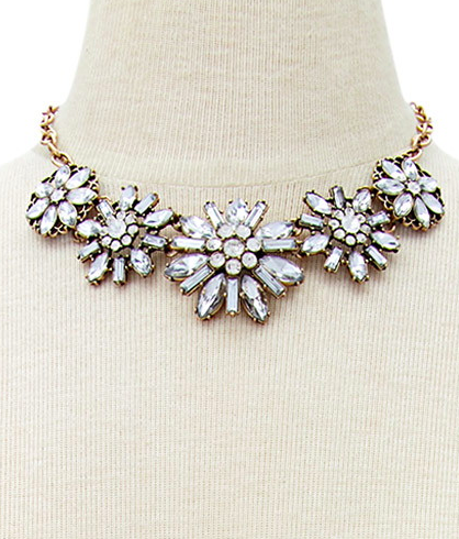 Forever 21 jeweled statement necklace