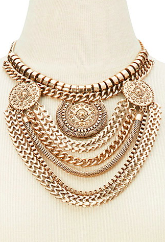 Forever 21 mixed chain necklace