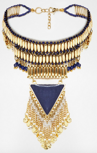 ASOS Beaded Triangle Choker Necklace