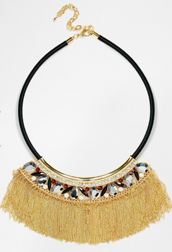 River Island Choker With Metal Fringing