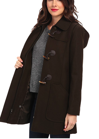 Larry Levine Wool Duffle Coat