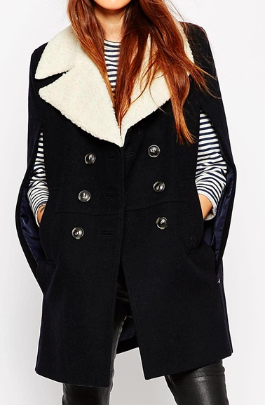 Asos wool cape coat