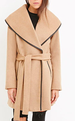 Forever 21 wool wrap coat