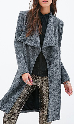 Forever 21 tweed coat
