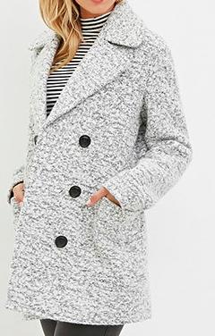 Forever 21 marled coat