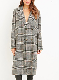 Forever 21 plaid duster coat