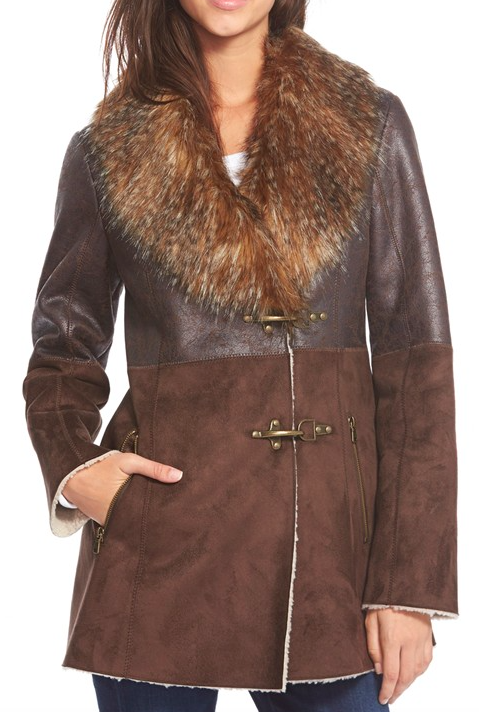 Jessica Simpson Faux Shearling Coat