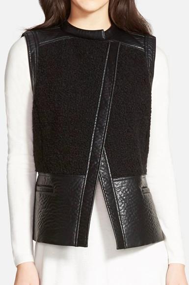 Trouvé Faux Shearling Moto Vest