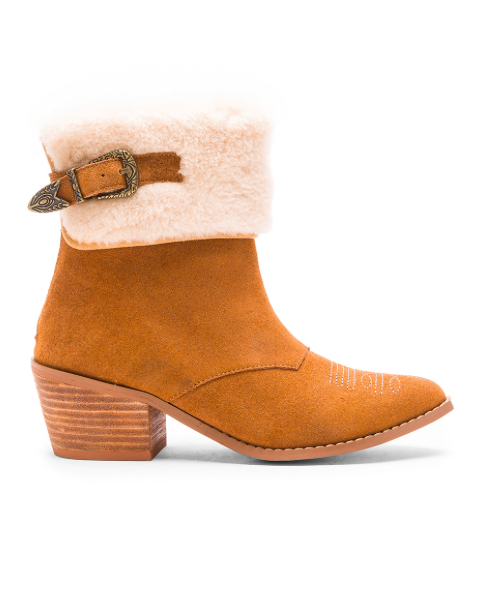 LONE RANGER BOOT WITH FAUX FUR CUFF NIGHTWALKER