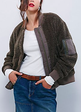 Free People Teddy Aviator Jacket