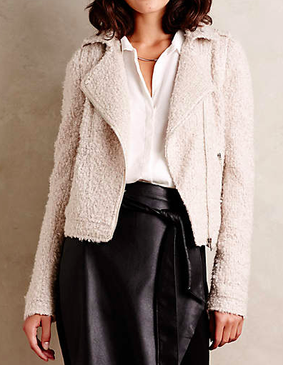 Anthropologie shearling jacket