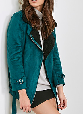 Forever 21 aviator shearling jacket