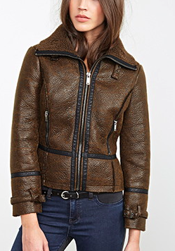 Forever 21 shearling aviator jacket