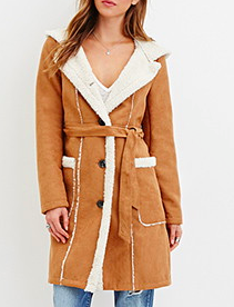 Forever 21 shearling coat
