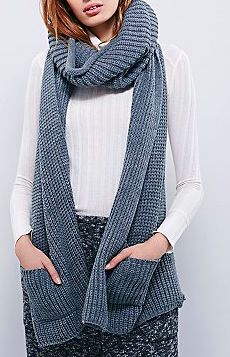 Free People pocket scarf