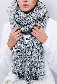 Free People scrabble scarf