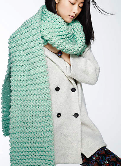 Anthropologie chunky scarf