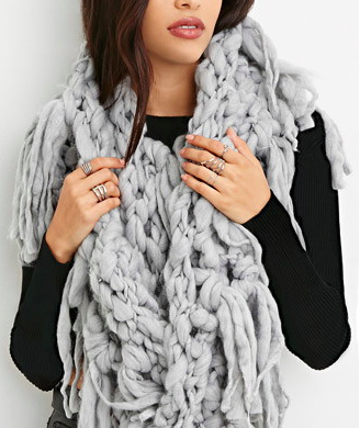 Forever 21 brushed oversized infinity scarf