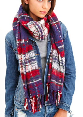 Forever 21 plaid scarf