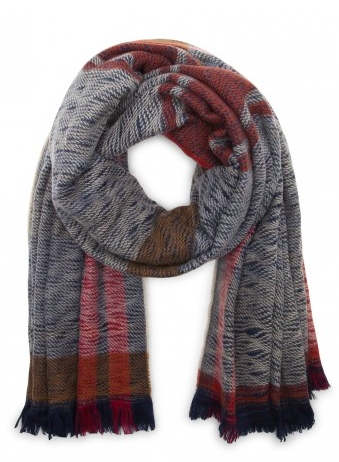 Sole Society multi knit scarf