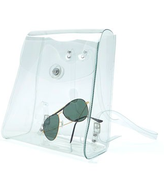 American Apparel clear mini backpack