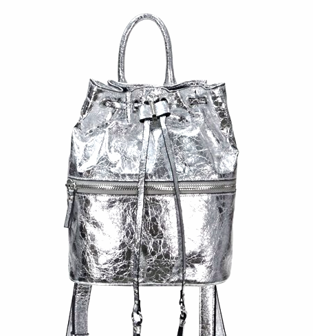 French Connection silver small backpack