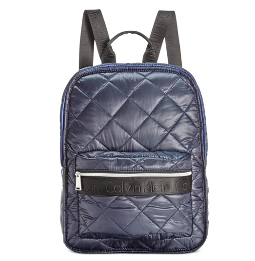 Calvin Klein Cire Nylon Quilted Backpack