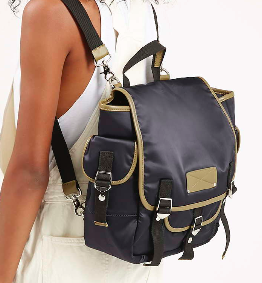 Topshop satin backpack